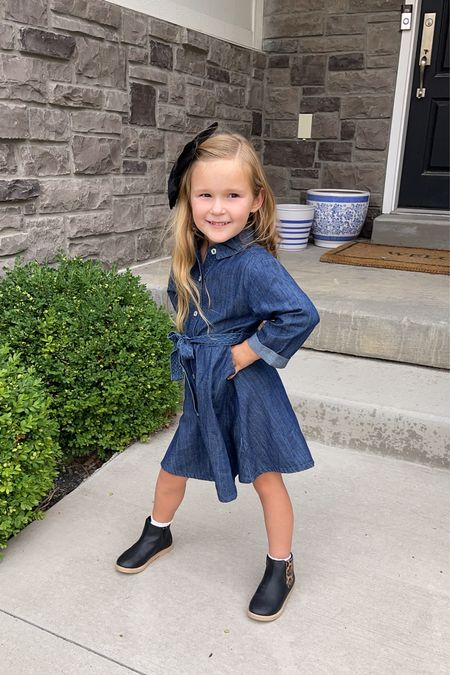 Cutest denim dress for my little girl! Great for back to school!   #LTKunder50 #LTKkids #LTKsalealert