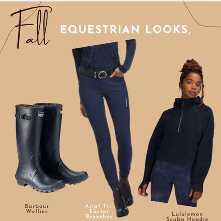 Navy equestrian style Ariat breeches Hunter wellies Rain boots English style Countryside LULULEMON jacket   #LTKtravel #LTKbacktoschool #LTKeurope