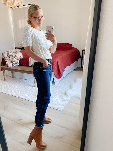 Levi's from Target on a whim last night because I spilled on my jeans I was in… great mistake 😂🙌🏻 501 cropped for a great price.   #LTKunder100 #LTKshoecrush #LTKSeasonal