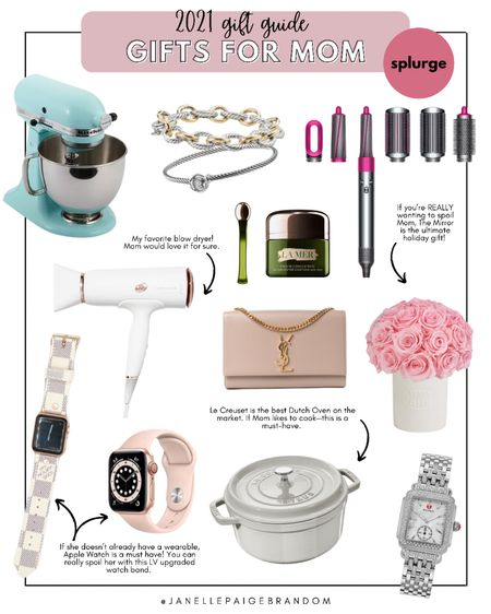 Here are some of my fave too gifts for mom! These are the kind of gifts you splurge on, or even go in on with your partner or siblings! I have this purse and love it—same with the watch, blow dryer, jewelry & flowers!   #LTKfamily #LTKGiftGuide #LTKHoliday