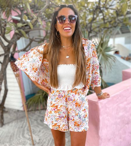 Perfect set for a tropical vacation paired with a cute crop top and sunglasses    #LTKstyletip #LTKtravel #LTKunder50