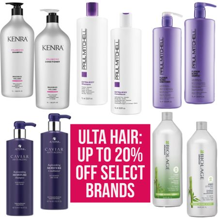 Ulta Hair- Up to 20% off select brands! Tons of other options online! My hair is super thin/flat- I use Paul Mitchell extra body shampoo/conditioner and love it! Check out LIKEtoKNOW.it for deets!  #ulta #haircare #paulmitchell #biolage #selflove #hair #hairstyle #kenra #selfcare #matrix #alterna #sale #wfh #workfromhome #salealert #LTKsalealert #LTKunder50 #LTKbeauty #liketkit @liketoknow.it http://liketk.it/2RjgR
