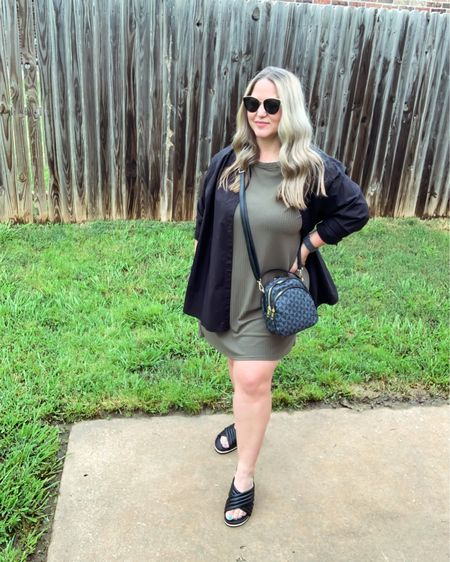 Dress size 14 tts Shirt size large (fits oversized)  Slides tts @liketoknow.it #liketkit http://liketk.it/3gNp0 #LTKcurves #LTKstyletip #LTKunder50