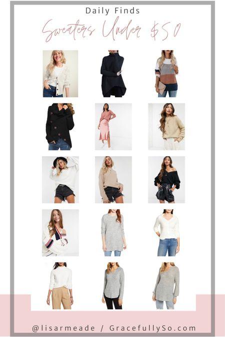 Sweaters Under $50  http://liketk.it/2Yqcq #liketkit @liketoknow.it  #sweater #sweaterweather #fallstyle #fallfashion #abercrombie #nordstrom #coldweatherstyle #chunkyknit #turtleneck #crewneck #winterstyle #cowlneck #neutralclothes #asos #amazonprime #amazonfashion #targetstyle