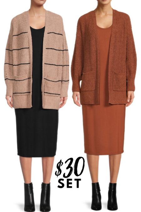 Dress and cardigan for $30! I'm going to try the medium    #LTKunder50 #LTKSeasonal #LTKworkwear