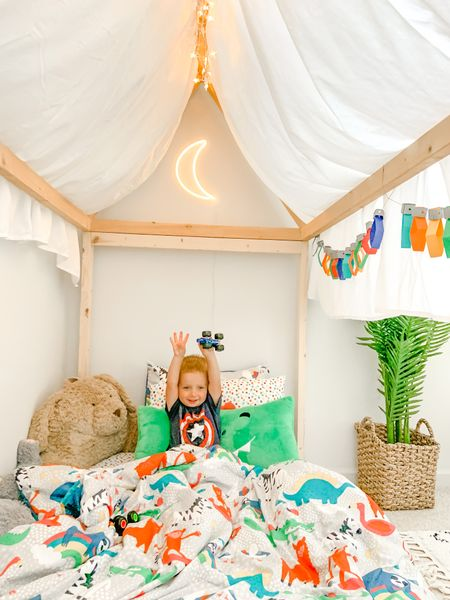 Monster trucks and house bed forts.   #LTKfamily #LTKhome