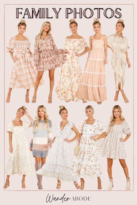 Neutral & white dresses for family photos   #LTKunder50 #LTKunder100 #LTKSeasonal