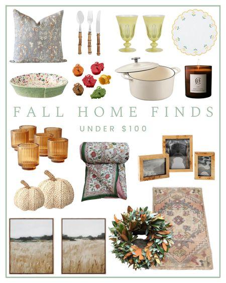 Fall home finds under $100 - affordable home decor    #LTKhome #LTKunder100