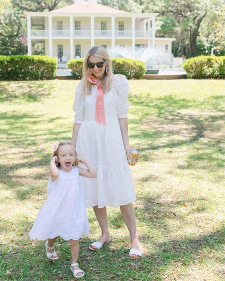 White dress. Beach dress. Vacation dress. Beach look. July 4th dress. #liketkit @liketoknow.it http://liketk.it/3hMZV #LTKunder100 #LTKkids #LTKfamily