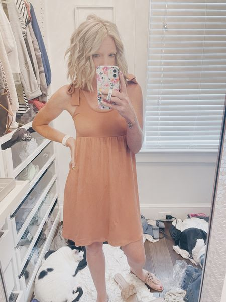 Can you tell what kind of week I've had?!?  I have been really trying to keep my closet clean and organized, but….then this happens!! 🤷♀️  On the bright side, my favorite Target dress is restocked and only $20!  It's such a great summer piece I grabbed it in every color.  Also, it's day 3 of my hair routine, so it looks pretty good today thanks to my favorite dry shampoo from DryBar!  ❤️  There's always tomorrow for a clean closet….right?! 😜  Download the LIKEtoKNOW.it shopping app to shop this pic via screenshot You can instantly shop my looks by following me on the LIKEtoKNOW.it shopping app http://liketk.it/3iJW2 #liketkit @liketoknow.it