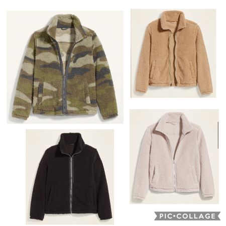 $12 today on these sherpa jackets!!!!!! I ordered the camo one!   http://liketk.it/30XdU #liketkit @liketoknow.it Follow me on the LIKEtoKNOW.it shopping app to get the product details for this look and others