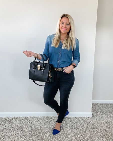 How to Style a Chambray Button Down Shirt   http://liketk.it/3bSjN #liketkit @liketoknow.it #LTKstyletip #LTKunder50