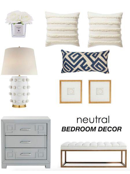 Bedroom furniture and decor neutral design http://liketk.it/3gYZt #liketkit @liketoknow.it   #LTKhome #LTKunder100 #LTKstyletip