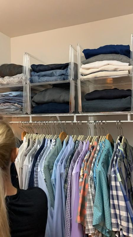 Closet organization for wire shelves ✨  #LTKunder50 #LTKhome #LTKmens
