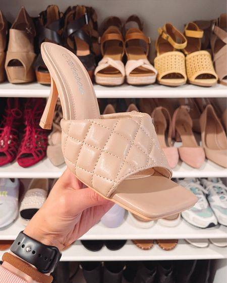 Found these quilted square toe nude heeled sandals back in stock! They are in super high demand since yesterday and from Amazon fashion. http://liketk.it/3hfga #liketkit @liketoknow.it #LTKunder100 #LTKshoecrush #LTKwedding