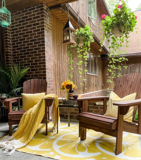 Beautiful and sturdy Adirondack chairs with wine holders   #LTKhome #LTKSeasonal #LTKstyletip
