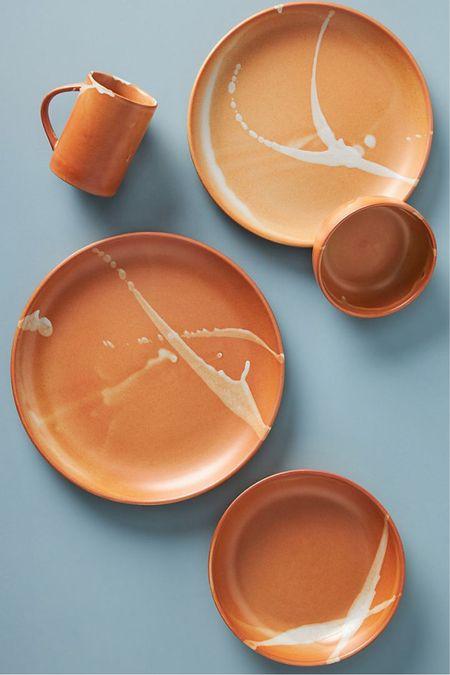 anthropologie durango dinner plates, set of 4  #LTKSeasonal #LTKhome #LTKunder100