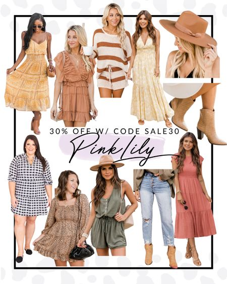 Pink lily has so many great fall finds including these dresses, boots and hat! You can get all of these fashion items for 30% off with code SALE30!  #LTKsalealert #LTKSeasonal #LTKcurves