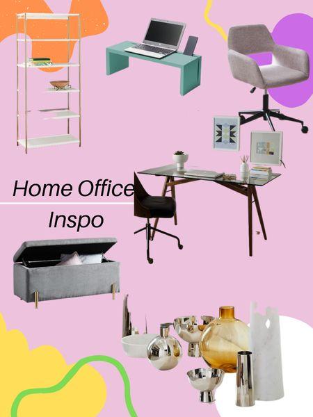 Home Office Inspo - http://liketk.it/3jhQN #liketkit @liketoknow.it #LTKhome #LTKsalealert / #homedecor #westelm #officechair #officedesk #bookcase #bench #vases