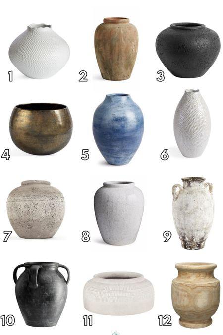 Fall decorating, decor, vases, vessels, pottery, brass, black matte, centerpiece   #LTKhome #LTKSeasonal