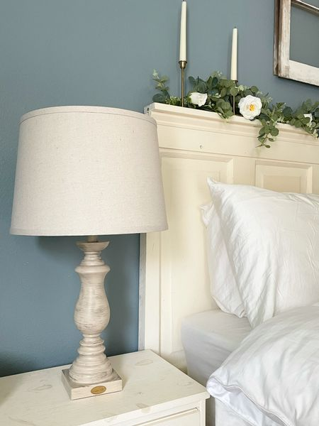 Beautiful lamps can totally change the look of a room. These beautiful wood lamps add the French country flair I was craving for my bedroom style.   #LTKstyletip #LTKhome #LTKunder100