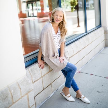 2021 fall fashion LTK under $100 white mules cream cashmere sweater petite jeans  #LTKsalealert #LTKunder100 #LTKstyletip