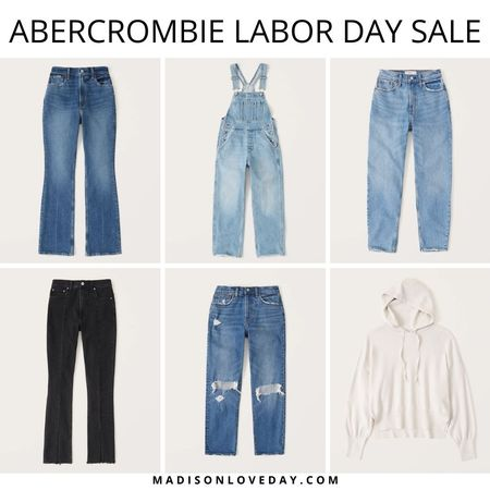 Abercrombie Labor Day Sale   LuxeLoft Hooded Sweater  Ultra High Rise Vintage Flare Jeans  High Rise Overalls  High Rise 80s Mom Jeans  High Rise Skinny Jeans  Mid Rise Boyfriend Jeans   fall outfits, denim, sale alert, jeans,     #LTKSeasonal #LTKsalealert #LTKunder100