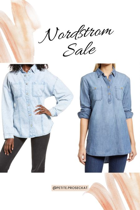 Chambray can be my middle name all fall long   #LTKunder50 #LTKsalealert #LTKstyletip