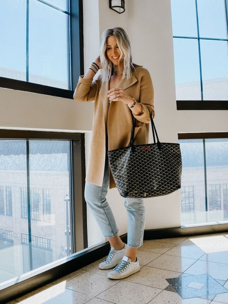 JCrew knit blazer is 25% off. It's a favorite item in my closet and isn't always included on sales. It does run a tad large.   P448 sneakers are also on sale. So many styles to choose from.   JCrew sale, cardigan, camel sweater, sweater blazer, duster, white sneakers    #LTKsalealert #LTKstyletip #LTKshoecrush
