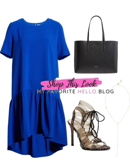 Date night outfit with cobalt dress and strappy sandals. Nordstrom anniversary sale finds.   #LTKSeasonal #LTKshoecrush #LTKstyletip
