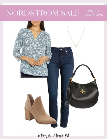 Nordstrom anniversary sale outfit looks like number one! A good pair of dark blue skinny jeans are a great investment during the Nordstrom anniversary sale because high-quality denim will last you so long! Definitely snag it at a discount right now.  #LTKworkwear #LTKsalealert #LTKSeasonal