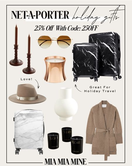 Luxe holiday gifts on sale Holiday gift guide from Net-a-Porter - take 25% off with code 25OFF Calpak luggage on sale Home gifts for the holidays Holiday gifts for the hostess   #LTKhome #LTKsalealert #LTKHoliday