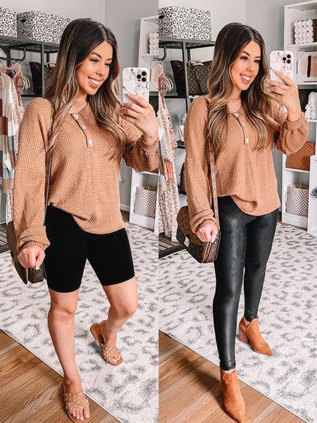 Summer to fall Outfits  Pink lily Spanx leggings Amazon booties   #LTKSeasonal #LTKbacktoschool #LTKstyletip