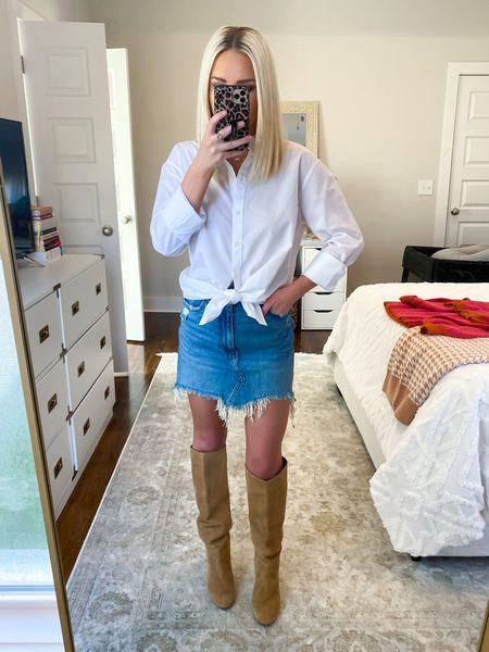 Abercrombie denim mini skirt is on clearance for $39! Size: 25  #LTKSale #LTKHoliday #LTKSeasonal