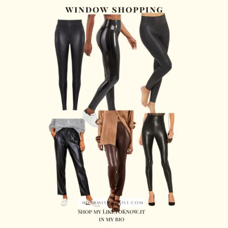 Leather leggings and pants are in this season. Have you bought yours yet?  #LTKHoliday #LTKSeasonal #LTKunder100