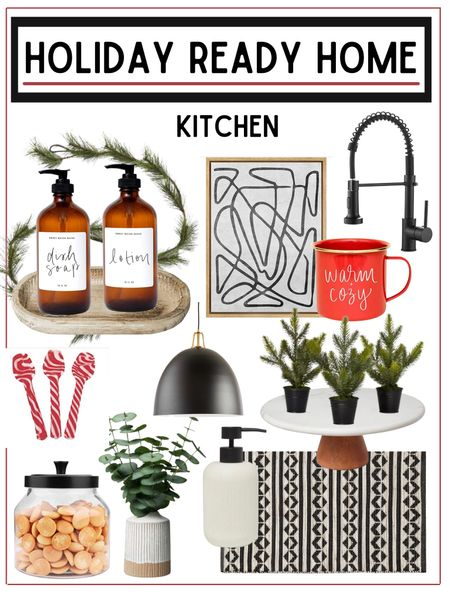 Kitchen refresh - get your kitchen holiday ready!            Holiday decor , kitchen decor , home decor , kitchen finds , wreath , amazon home decor , target home decor , amazon finds , target finds , target style , target Christmas , ruggable , kitchen runner , pantry organization , pantry containers, soap dispensers #ltkunder100 #ltkunder50 #ltkstyletip , home furnishings , crate and barrel   #LTKHoliday #LTKSeasonal #LTKhome