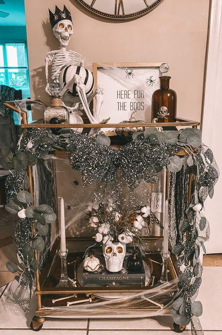 Halloween Bar Cart Decor 🖤  #LTKunder50 #LTKSeasonal #LTKhome