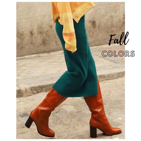 Fall inspires me with its colors. Fall colors . Fall boots. Fall outfits. Fall outfit inspo. Mid skirts.     #LTKshoecrush #LTKSeasonal #LTKstyletip
