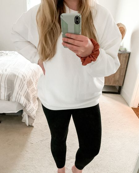 This sweater is pure comfort! Paired with my go-to leggings, this is going to be an outfit that I don't want to take off! 😍 http://liketk.it/2JXTs #liketkit @liketoknow.it #LTKsalealert #LTKstyletip #LTKunder50
