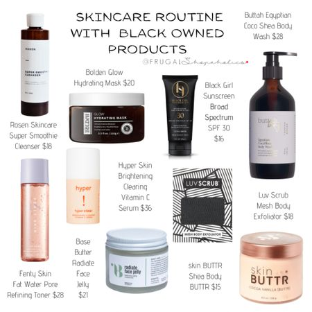 Skincare Routine with  Black Owned Products {CH 👸🏾}   Shop the items in this post with the @liketoknow.it app or on our 'Shop Instagram' page.   Direct Link: http://liketk.it/394GN   • • • • • • #frugalshopaholic #budgetbeauty #affordablebeauty #beautyonabudget #drugstorebeauty #skincare #affordableskincare #makeup #makeupforwoc #darkskinnedmakeupdaily #blackgirlswhoblog #browngirlbloggers #dmvblogger #lablogger #liketkit #blackowned #blackownedbeauty #blackownedskincare #blackhistorymonth