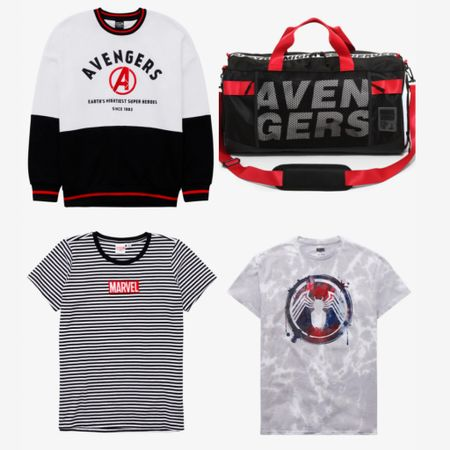 The new Marvel merchandise on Box Lunch is making me wish for Acengers Campus even more now! Can June 4th come faster?? #boxlunch #disney #marvel #avengers #disneystyle #sweatshirt #striped #LTKunder50 #LTKstyletip #LTKsalealert #liketkit @liketoknow.it http://liketk.it/3dsnT