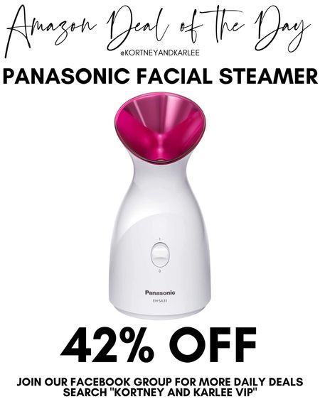 Amazon Deal of the Day!! 42% off Panasonic Facial Steamer! Would make such a great gift!   Amazon daily deal | amazon deal | amazon beauty | amazon finds | amazon favorites | amazon lightening deal | Kortney and Karlee | #kortneyandkarlee #LTKunder50 #LTKunder100 #LTKsalealert #LTKstyletip #LTKSeasonal #LTKhome @liketoknow.it #liketkit