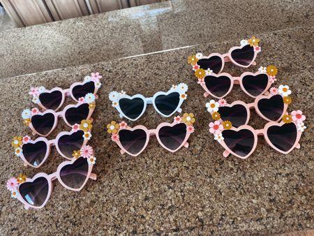 DIY heart & flower sunglasses for a hippie bachelorette party!  #LTKstyletip #LTKunder100 #LTKunder50