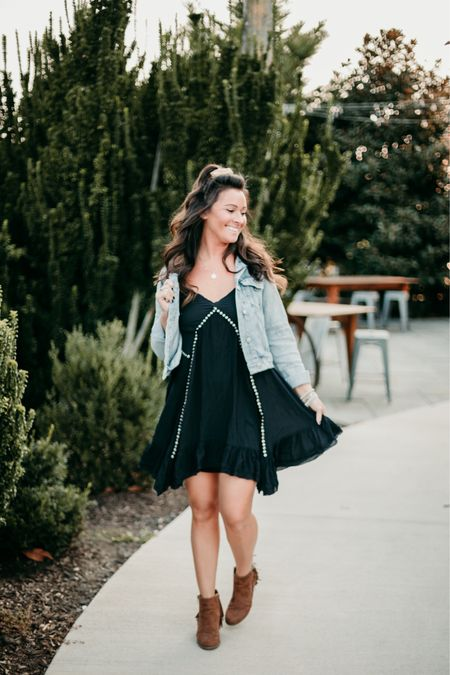 #Fall #FreePeople swing dress - great for a day at the #winery, #vineyard, or #brewery!  Paired with Free People #denim jacket and #fringe booties 😍😍   Shop my daily looks by following me on the LIKEtoKNOW.it shopping app! 🛍🎀   http://liketk.it/2ZuHb    #cheeryandcharming #fall #liketkit #LTKbeauty #LTKfit #cardigan #orange #fashion #style #fashionstyle #fitness #fit #freepeople #canton #federalhill #freepeople #motivate #fellspoint #baltimore #instagood #instaphoto #fitnessmotivation #louisvuitton #love #life #happy #lifestyleblogger #qotd #blog #lifestyle @liketoknow.it