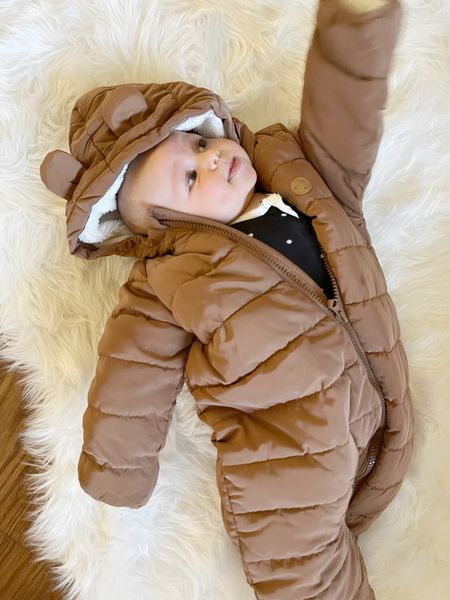 W E S T \ Suited up and ready for cooler weather!🍂  #baby #babyboy #snowsuit   #LTKunder50 #LTKbaby #LTKSeasonal