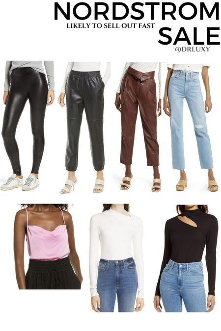 Nordstrom Anniversary Sale  #nsale  Faux leather leggings  Faux leather pants  Cut out tops  Jeans  Sandals  Denim  Satin cami     #LTKsalealert #LTKstyletip #LTKunder100