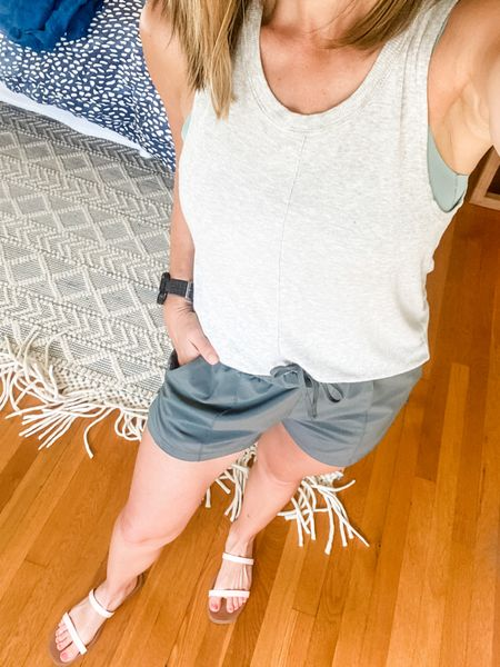 This gray workout top has become one of my all time favorites because of the cute seam down the middle! I'm also loving these white sneakers— cute enough for a casual outfit but also made for fitness so great for walking with Thomas 🙌🏼 #athleisure #casualeveryday  #LTKfit#LTKstyletip#LTKfamily  #LTKSeasonal #LTKfit #LTKstyletip