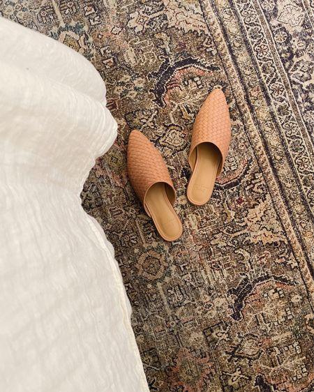 Sprint mules under $80   Woven beige mules  Leather flats  Spring shoes    #LTKSpringSale #LTKshoecrush #LTKunder100