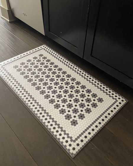 This tile print kitchen mat helps alleviate pressure off your feet and is a stylish accent! http://liketk.it/3ha6T #liketkit @liketoknow.it #target #amazon #kitchen #organization   #LTKunder50