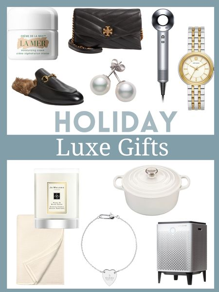 Luxe gifts for the holidays      Luxe gifts , splurge worthy gifts , Gucci mules , dyson , jo Malone , la mer , gifts for her , gifts for mom , nordstrom finds , #ltkeurope , #ltkshoecrush , gift guide , gift ideas , Christmas gifts , holiday gifts , holiday shopping  #LTKHoliday #LTKGiftGuide #LTKbeauty